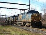 CSX 5408, 7497, 409 on new train Q128.